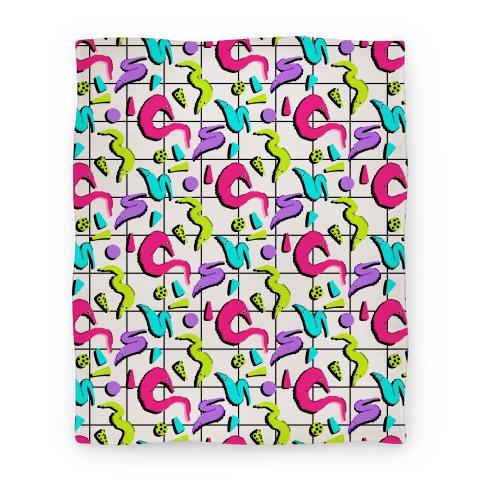 Retro Worm Pattern Blanket