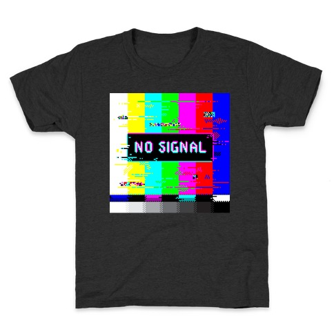 Glitchy No Signal Bars Kids T-Shirt