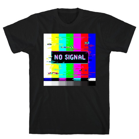 Glitchy No Signal Bars T-Shirt