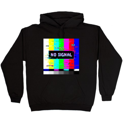 Glitchy No Signal Bars Hooded Sweatshirt