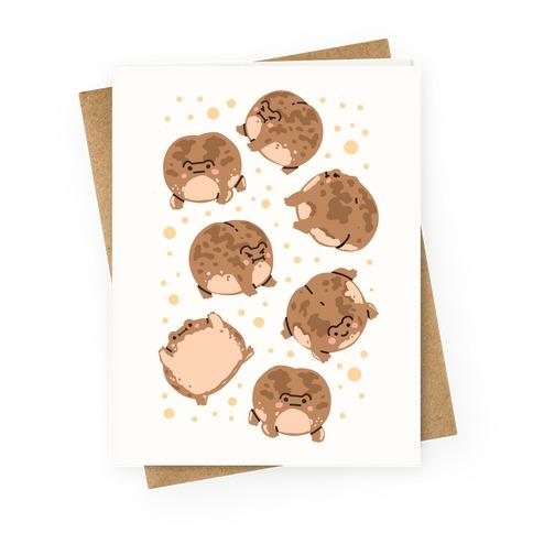 Desert Rain Frog Pattern Greeting Card