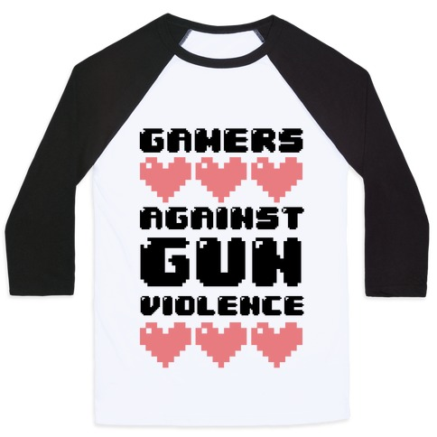 Gamers Against Gun Violence Baseball Tee