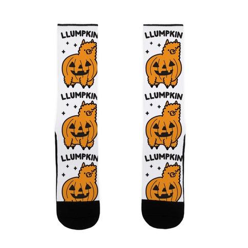 Llumpkin Llama Pumpkin Sock