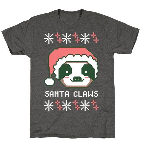 Santa Claws - Sloth T-Shirt