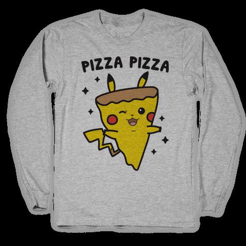 Pizza Pizza Pikachu Parody Long Sleeve T-Shirt