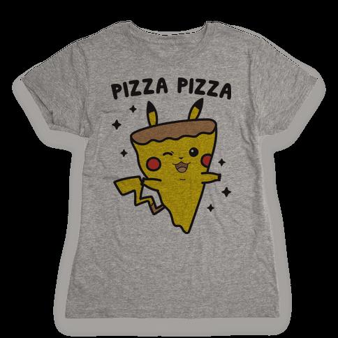 Pizza Pizza Pikachu Parody Womens T-Shirt