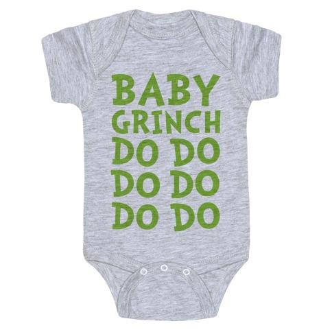 Baby Grinch Baby Shark Parody Baby Onesy