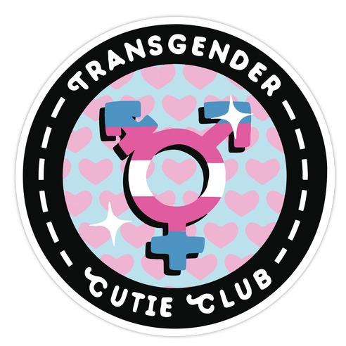 Transgender Cutie Club Patch Die Cut Sticker