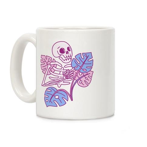 Monstera Skeleton Coffee Mug