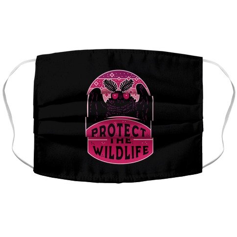 Protect the Wildlife (Mothman) Accordion Face Mask