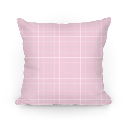 Pink Grid Pillow