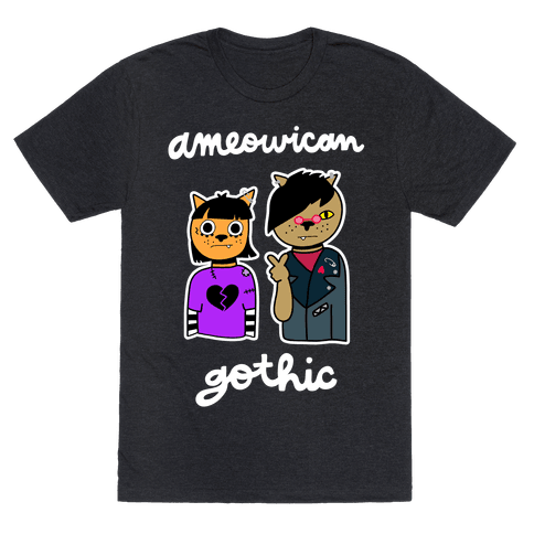 Ameowican Gothic Mens/Unisex T-Shirt