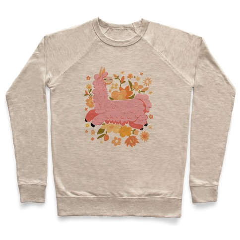 Llama Among Flowers Pullover