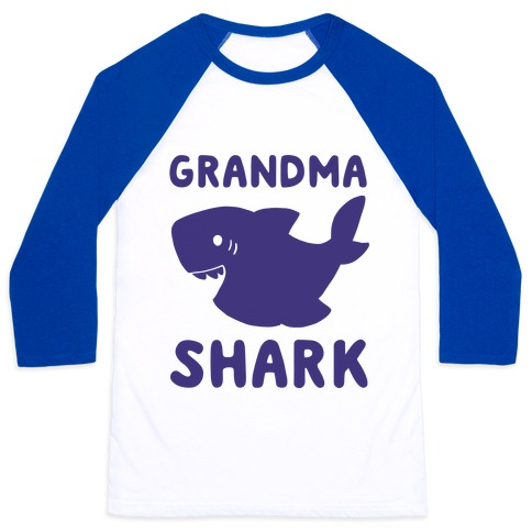 Grandma Shark (1 of 5 set) Baseball Tee