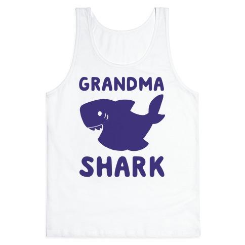 Grandma Shark (1 of 5 set) Tank Top