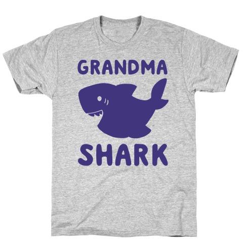 Grandma Shark (1 of 5 set) Mens/Unisex T-Shirt