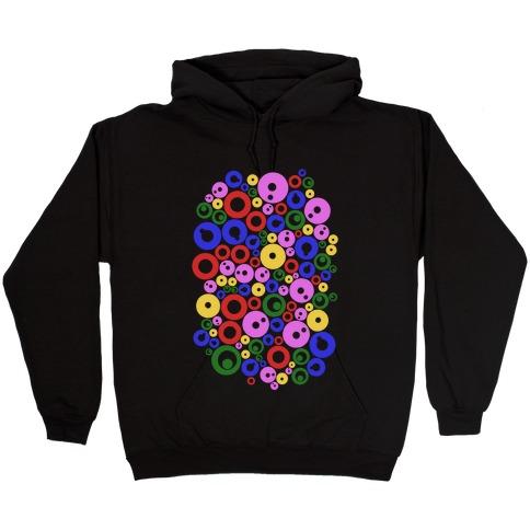 Bloobles Pattern Hooded Sweatshirt