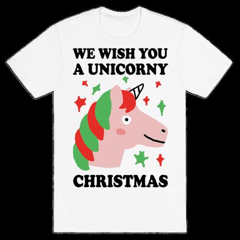 We Wish You A Unicorny Christmas Mens T-Shirt