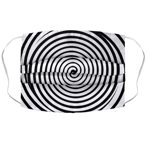 Hypnosis Swirl Face Mask Cover