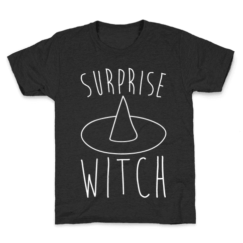 Surprise Witch Parody White Print Kids T-Shirt