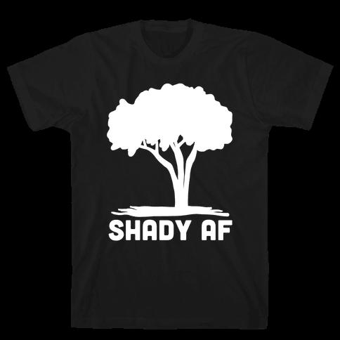 Shady AF - Tree Mens T-Shirt