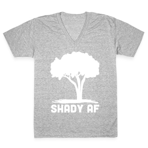 Shady AF - Tree V-Neck Tee Shirt