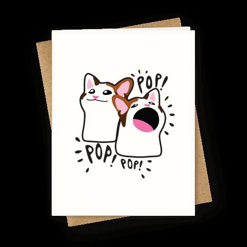 Pop Cat Greeting Card