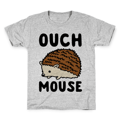 Ouch Mouse Hedgehog Parody Kids T-Shirt