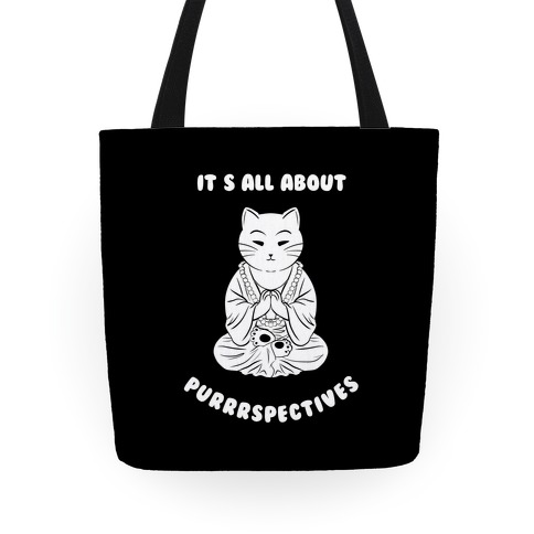 It's All About Purrrspectives (black) Tote