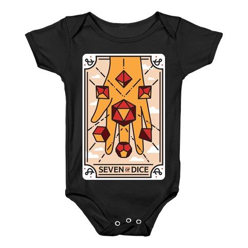 Seven of Dice - D&D Tarot Baby Onesy