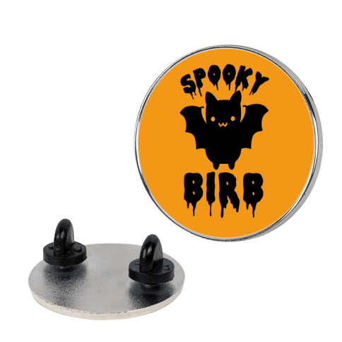 Spooky Birb Bat pin