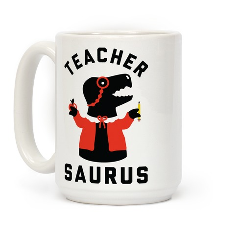 Teacher Saurus Cardigan Coffee Mug