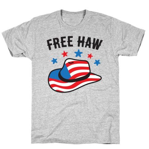 Free Haw Patriotic Cowboy Hat T-Shirt