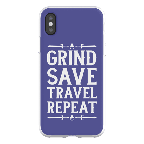 Grind, Save, Travel, Repeat Phone Flexi-Case