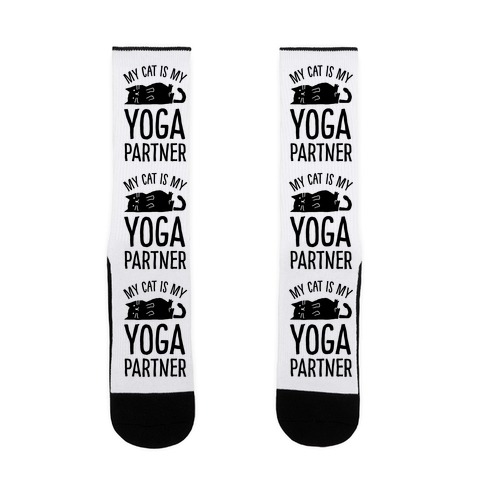 My Cat Is My Yoga Partner Sock