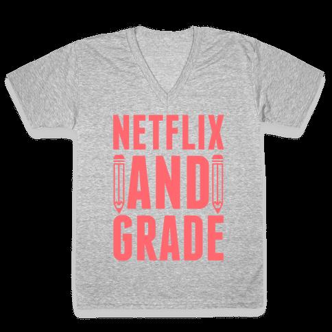 Netflix and Grade V-Neck Tee Shirt