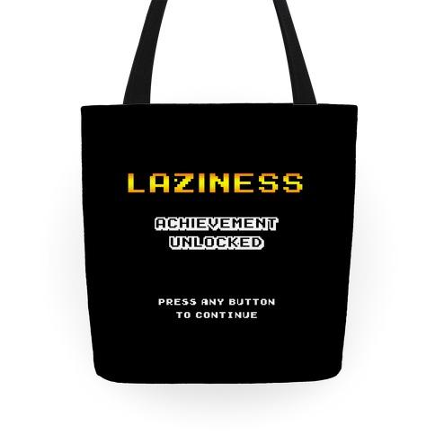 Laziness Achievement Unlocked Tote
