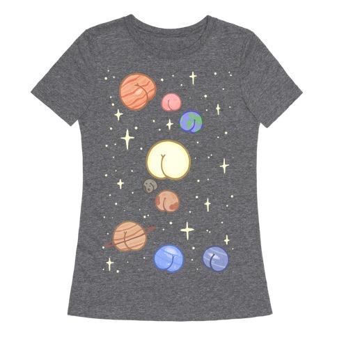 Butt Planets Womens T-Shirt
