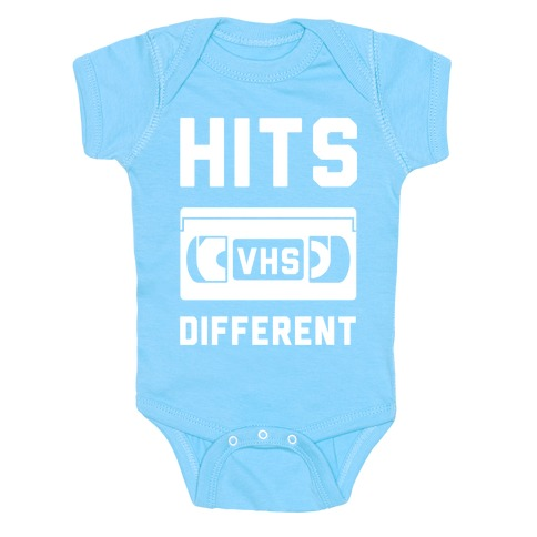 Hits Different VHS Baby Onesy