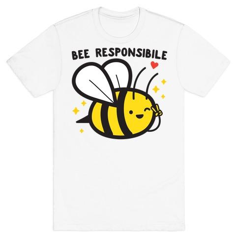 Bee Responsible Mens/Unisex T-Shirt
