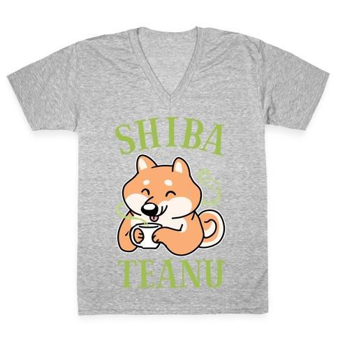 Shiba Teanu V-Neck Tee Shirt