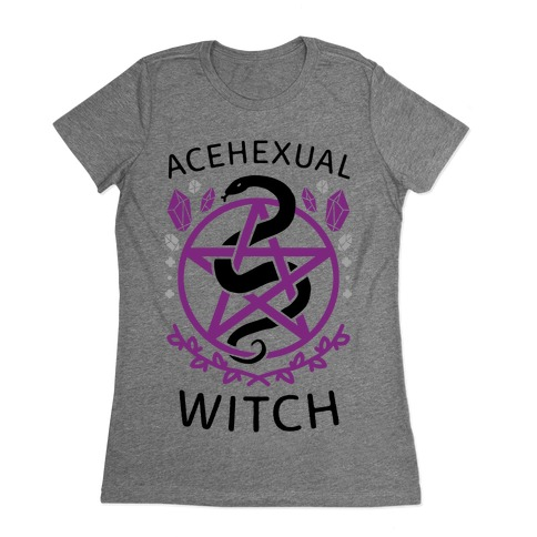 Acehexual Witch Womens T-Shirt