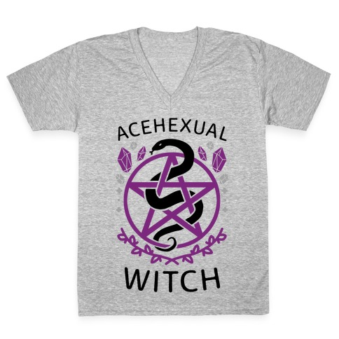 Acehexual Witch V-Neck Tee Shirt