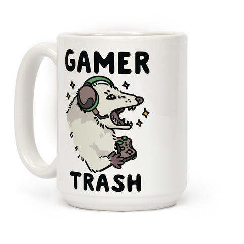 Gamer Trash Opossum Coffee Mug