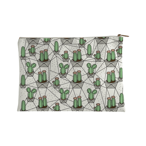 Geometric Cactus Accessory Bag