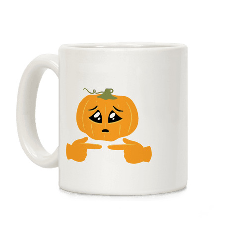 Shy Emoji Jack-o-Lantern Coffee Mug