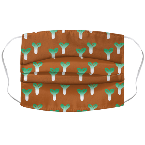 Little Sprouts Rust Orange Pattern Accordion Face Mask