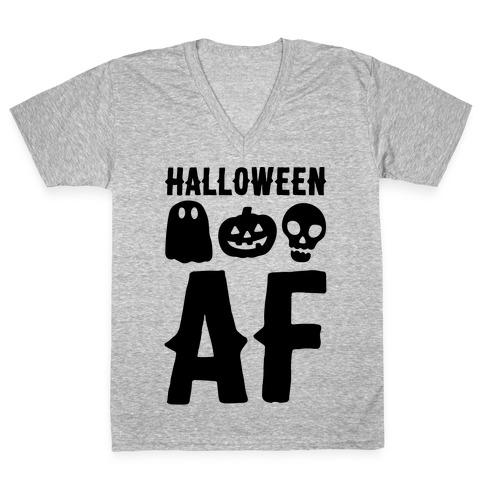 Halloween AF V-Neck Tee Shirt