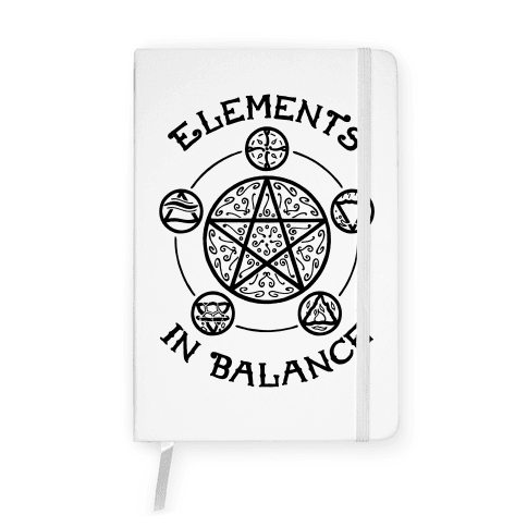 Witch's Elements In Balance Notebook