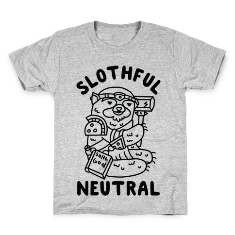 Slothful Neutral Sloth Cleric Kids T-Shirt